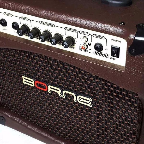 Amplificador para Violão Cubo Borne Infinit CV80 Marrom 8 polegadas