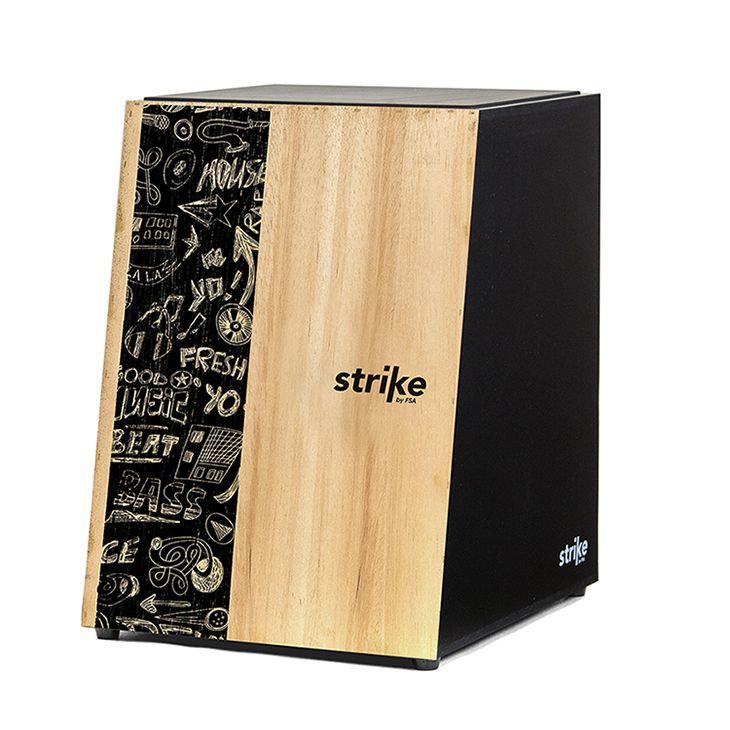 Cajon FSA Acústico Strike Music SK4001