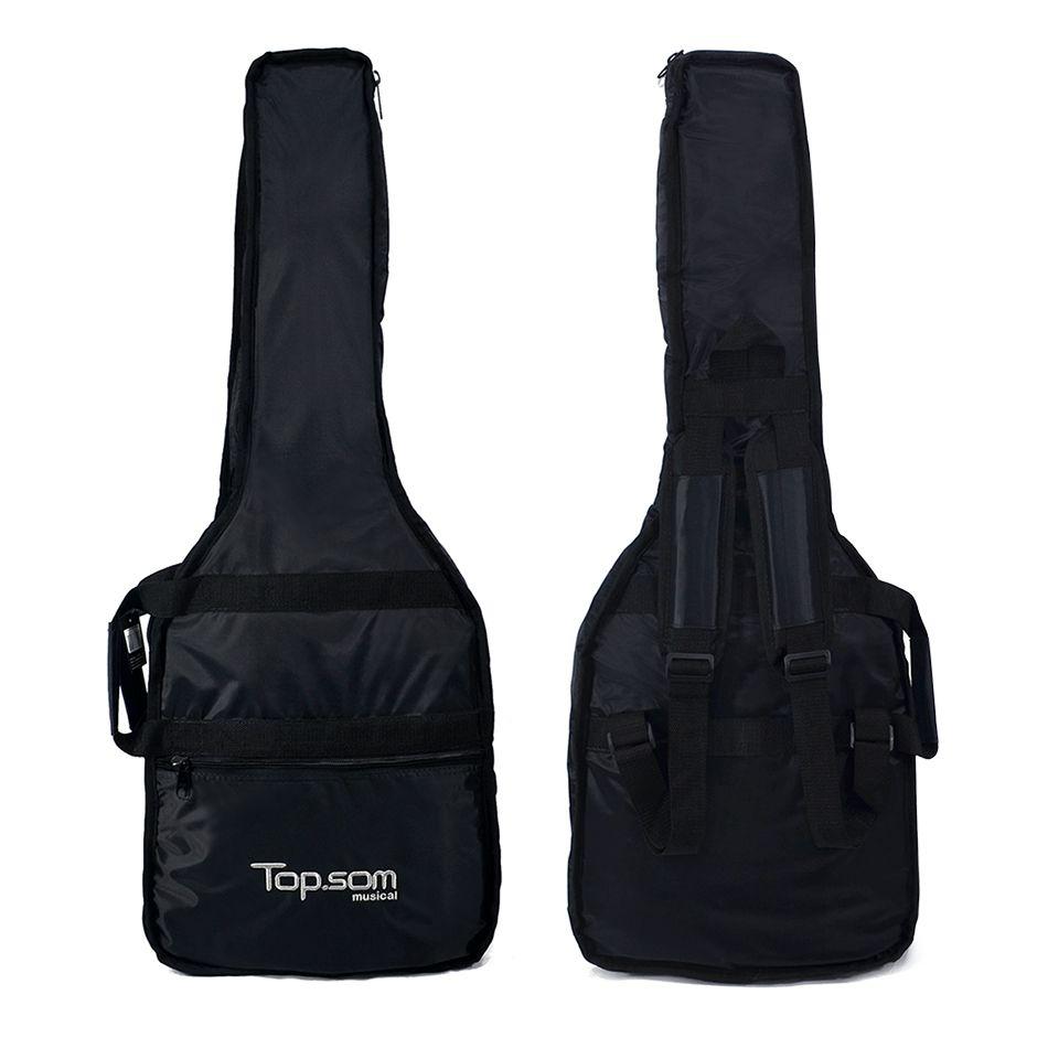 Capa de Guitarra Acolchoada Impermeável - Top Som Bags