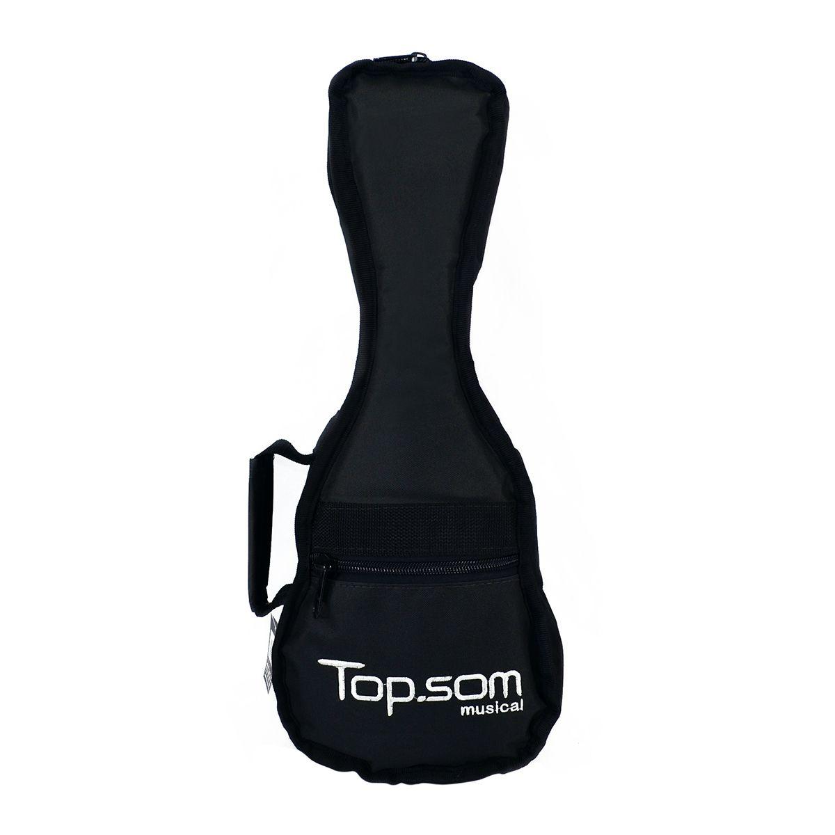 Capa de Ukulele Soprano Acolchoada Impermeável - Top Som Bags