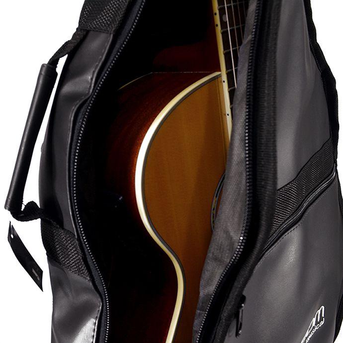 Capa para Violão Clássico Acolchoada de Couro - Top Som Bags