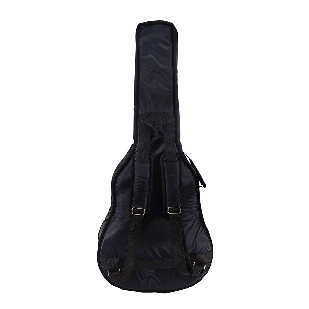 Capa para Violão Folk Acolchoada Impermeável Premium c/ bolsos extras - Cinza - Top Som Bags