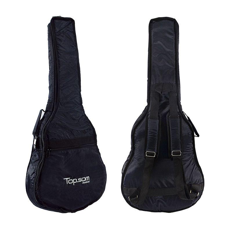 Capa para Violão Folk Acolchoada Impermeável - Top Som Bags
