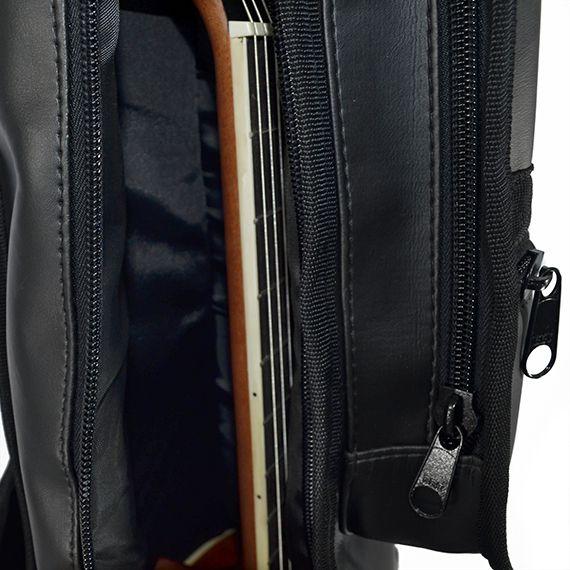 Capa para Violão Folk de Couro Acolchoada Impermeável Premium c/ bolsos extras – Top Som Bags