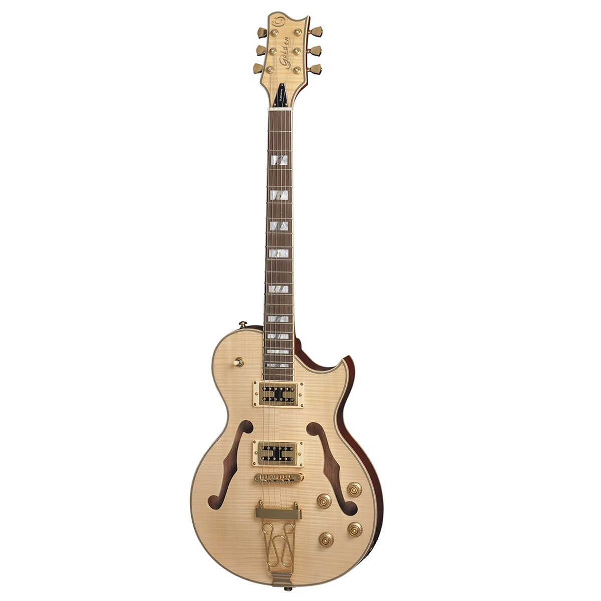Guitarra Golden Les Paul Semi Acústica GSH 570 Natural