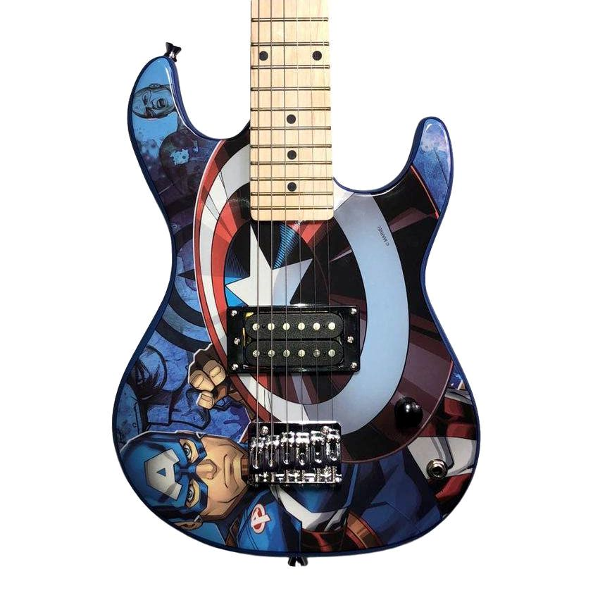 Guitarra Phoenix Infantil Capitão América Marvel