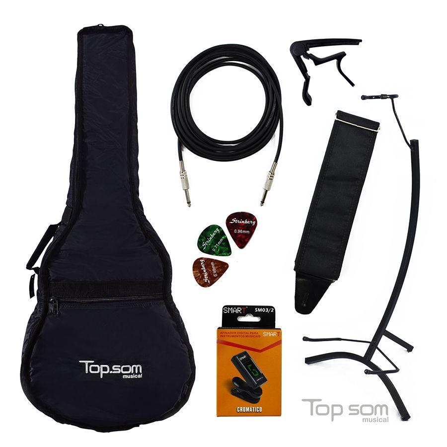 Kit de Acessórios para Violão - Top Som Musical