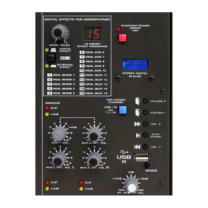 Mesa de Som Ciclotron Wattsom AMBW 8 XDF Analógica 8 Canais, USB e Controle Remoto