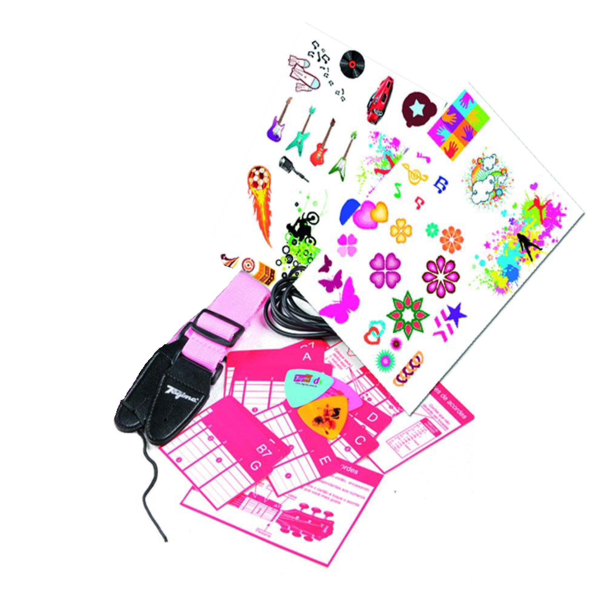 Violão Infantil Tagima Acústico Nylon Rosa V2 Kids