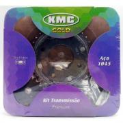KIT TRANSMISSÃO COM RETENTOR KMC HONDA CB 600 F HORNET 2008 EM DIANTE