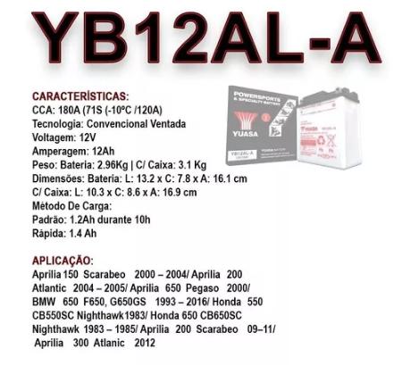 BATERIA YUASA YB12AL-A
