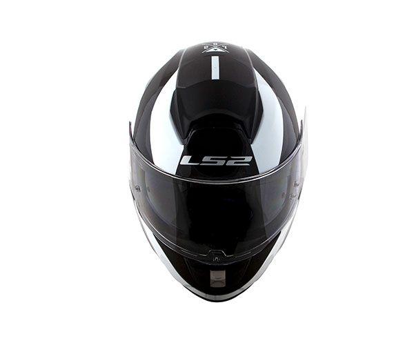 CAPACETE LS2 FF397 WAVY PRETO/BRANCO T60