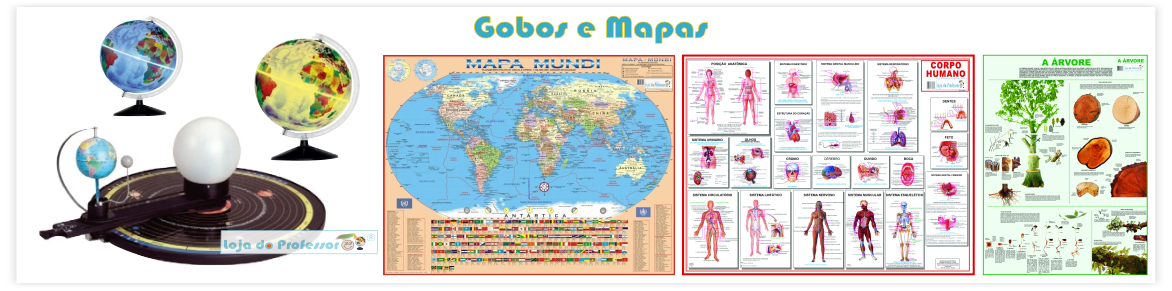 globos e mapas