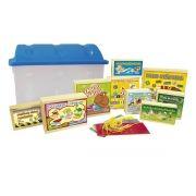 Baú de Alfabetização com 10 jogos em madeira - bau plástico