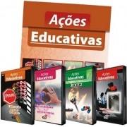 Coleção Ações Educativas: 4 DVD's + 01 Livro Texto