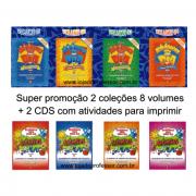 Coleção atividades para todo dia de língua portuguesa + Coleção atividades para todo dia ciências / 8 volumes + 2 CD's com atividades para imprimir
