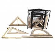 Kit Geométrico do Professor p/ quadro branco c/ bolsa