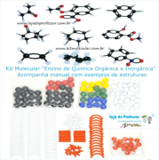 Kit Molecular Química Orgânica e Inorgânica  - 260 peças