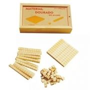 Material dourado do aluno 111 peças