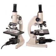 Microscópio Biológico Monocular com Aumento de 20x até 640x ou 20x até 1600X(opcional) e Iluminação 15W.