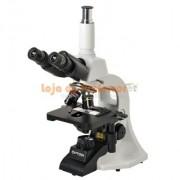 Microscópio Biológico Trinocular com Aumento 40x Até 1000x, Objetivas Semi Planacromáticas e Iluminação 3w LED. Código:TNB-01T