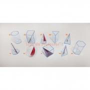 Sólidos Geométricos em Acrílico Neon- 10 peças