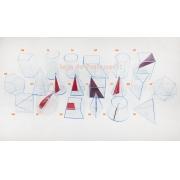 Sólidos Geométricos em acrílico Neon - 20 peças