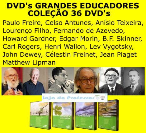"""Acervo Cultural, 36 DVD's """"GRANDES EDUCADORES"""