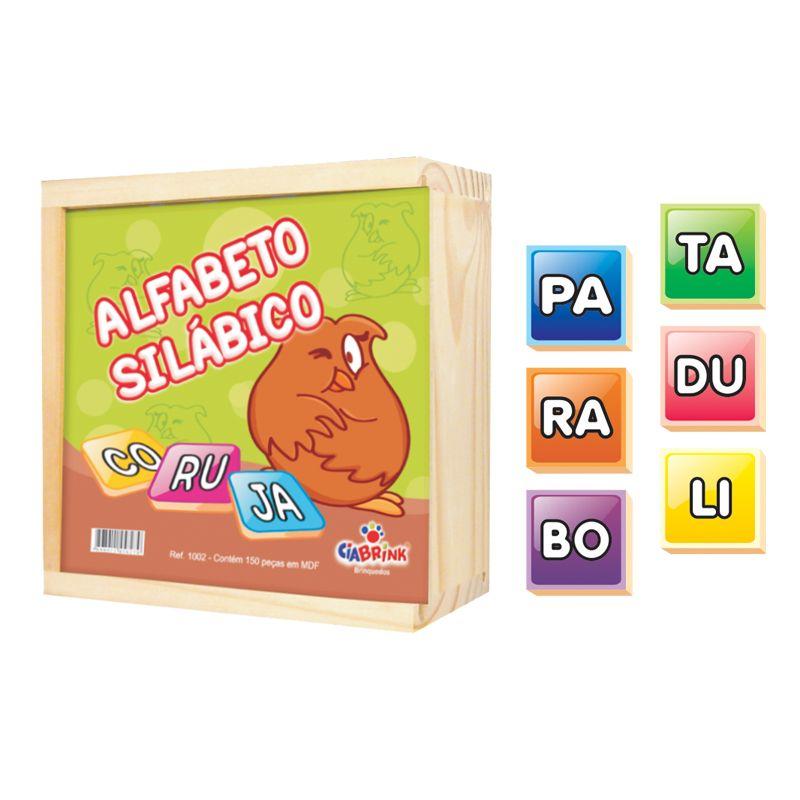 Alfabeto Silábico - Madeira - 150 Peças