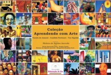 Coleção Aprendendo com Arte - Tarsila do Amaral, Cândido Portinari, Tao Sigulda ( 08 livros + 24 Reproduções: 42 x 28)