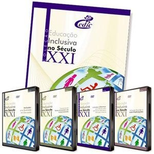 Coleção de DVDs Educação Inclusiva no Século XXI - 4 DVD's + livro