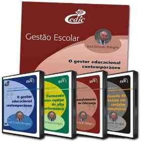 Coleção Gestão Escolar - 4 DVD's + livro