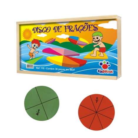 Discos de Frações - Madeira