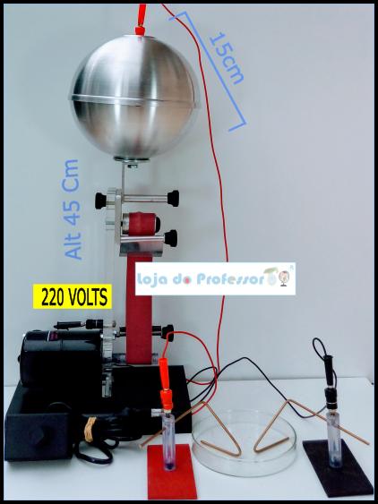 """gerador de van de graaff """"220 Volts"""""""