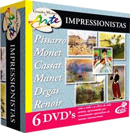Grandes Mestres da Arte - Impressionistas - 6 DVD's