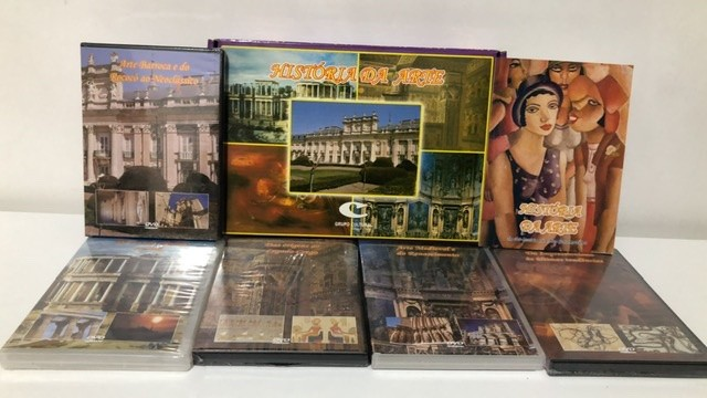Historia da Arte - 5 DVD's - 1 Livro