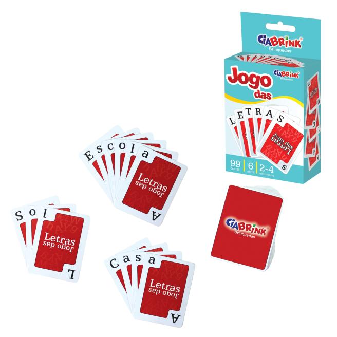 Jogo Das Letras - Baralho 99 Cartas Cartonado