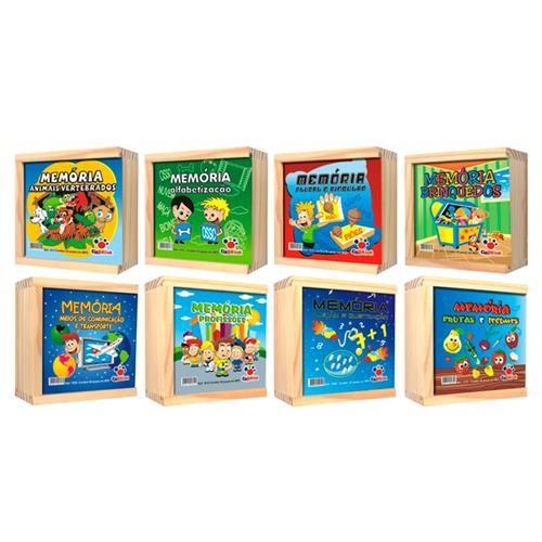 Jogos da Memória, Kit c/ 8 caixas em madeira