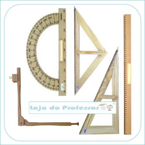 Kit Geométrico do Professor p/ quadro branco