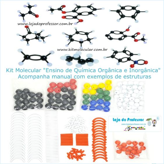 Kit Molecular Química Orgânica E Inorgânica