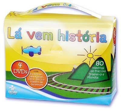 Lá Vem História - Maleta com 4 DVDs - Cultura Marcas