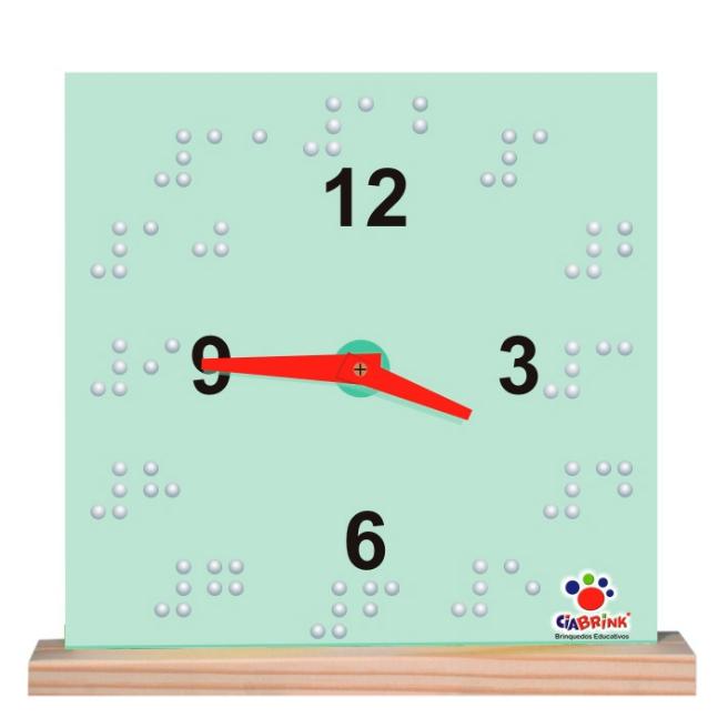 Relógio Braille - Madeira