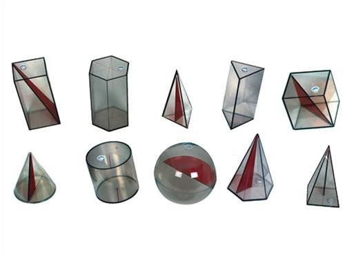 Sólidos Geométricos em Acrílico - 10 peças