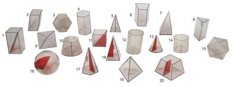 Sólidos Geométricos em acrílico - 20 peças