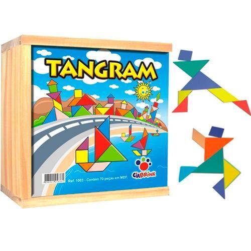 Tangram - 70 peças em madeira