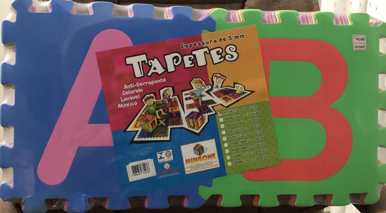 TAPETES ALFABETO - 26 PEÇAS