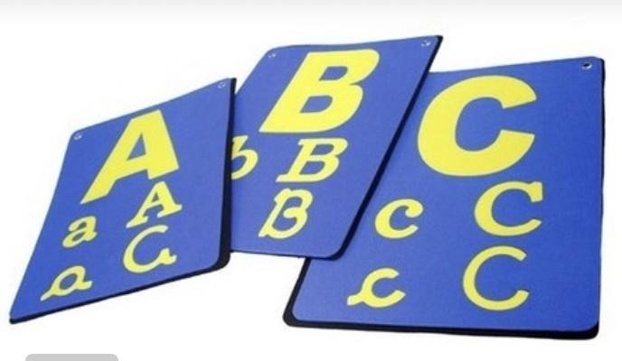 Varal do Alfabeto em EVA