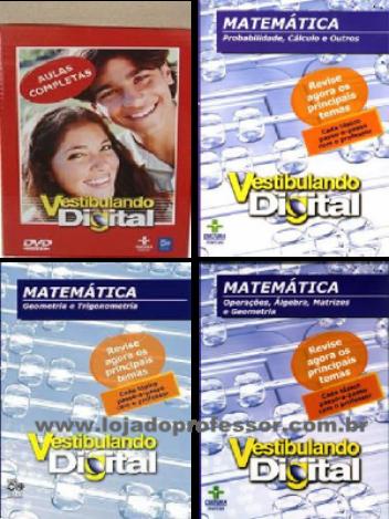 Vestibulando Digital de Matemática - 3 DVD's
