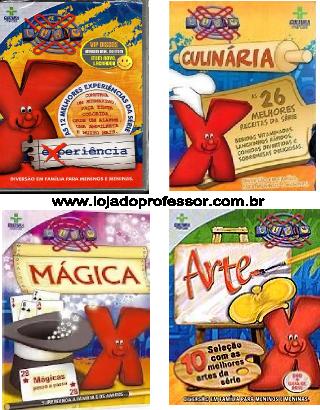 X Tudo - 4 DVD's - Cultura Marcas - Experiência - Culinária - Mágica - Arte