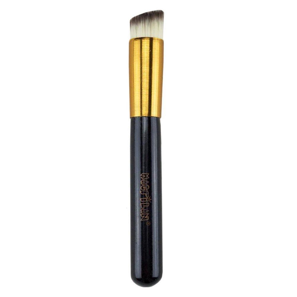 Pincel para Base Kabuki Chanfrado G121 Linha Gold - Macrilan